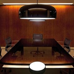 How cool is this boardroom...Smithfield S suspension lamp by Flos