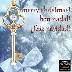 Merry Christmas! | Bon Nadal! | ¡Feliz Navidad! Merry Christmas, Jewels, Personalized Items, Brilliant Diamond, Pink And Gold, White Gold, Jewel, Diamonds, Xmas