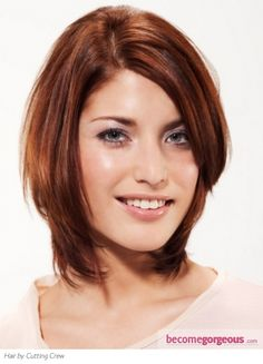 Thick hair just falls into place in this shaggy layered haircut. Heavy layering removes bulk and eases styling and creates flattering frame around the face. To style, work in a mix of frizz tamer a...