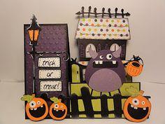 Mini Monster Step Card......super cute!  Must borrow this one :)