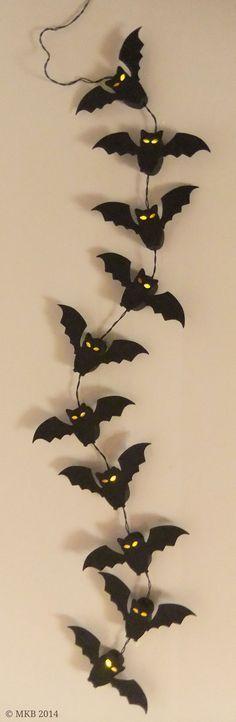 Fledermaus-Lichterkette (LED) – Miri's Kreativblog