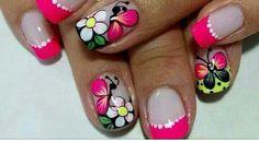 French Tip Nails, Spring Nails, Toe Nails, Design Art, Nail Designs, Hair Beauty, Nail Art, China, Designed Nails
