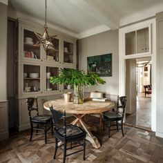 Old wood table Colombe design