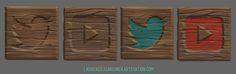 Handpainted Social Media Buttons, Laurence Gardiner on ArtStation at https://www.artstation.com/artwork/handpainted-social-media-buttons