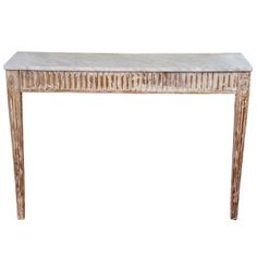 Gustavian Console Table, Two Legs | From a unique collection of antique and modern console tables at http://www.1stdibs.com/furniture/tables/console-tables/