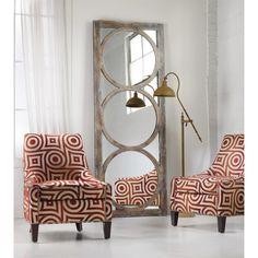 Hooker Furniture 638-50033 Melange Encircle Floor Mirror in Light Wood