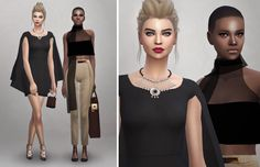 """aboutsims4: """" Hello! Finally I had time for sims! And here my new lookbook ^^ I…"""