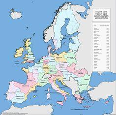 UE w wersji 28 państw z równą liczbą ludności. Kolejny żydomasoński spisek.