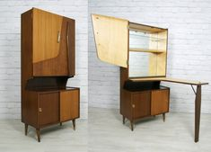 Can we have a cocktail bar in cellar? 70s Furniture, Furniture Design, Mid Century Modern Design, Mid Century Modern Furniture, Atomic Decor, Vintage Bar, Sweet Home, Interior Design, Wall Desk
