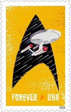 8 Star Trek Forever Stamps Unused 1960's Sci Fi Space TV Show Trekkie Postage Stamp for Gift or Mailing