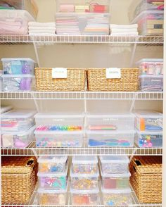 This supply closet was PACKED with toys, crafts, office supplies, medicine, towels, gift wrap, and party supplies. But after adding the right supplies and systems - everything fits like a glove.  #thehomeedit #closet #organization
