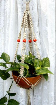 Arancia Handmade Natural Hemp Macrame Plant Hanger by Macramaking, $15.00