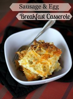 The Unsophisticated Kitchen: Sausage & Egg Breakfast Casserole
