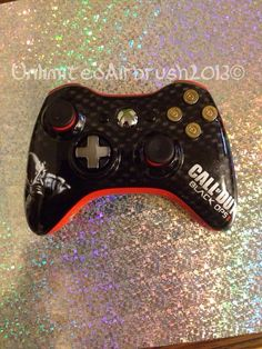 Custom airbrushed xbox 360 controller by UnlimitedAirbrush on Etsy, $165.00