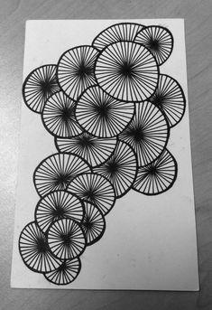 Doodle Art Drawing, Zentangle Drawings, Art Drawings Sketches, Mandala Drawing, Black Pen Drawing, Doodle Art Designs, Doodle Patterns, Zentangle Patterns, Mandala Art Lesson