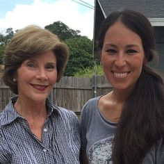 """What an honor to have @laurawbush at the little shop on Bosque today. It was a pleasure having you, thank you for stopping by! When I got home Emmie told everyone I had met """"the Queen"""".  @magnoliamarket"""