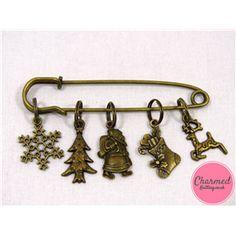 Christmas Eve - Bronze Knitting Stitch Marker Set