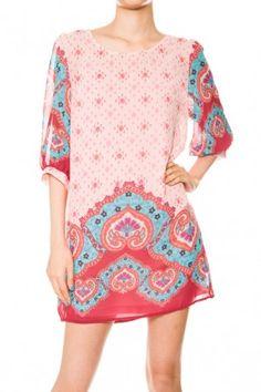 Dasmask Print Dress   #dresses #lovefashion #ilovesalediem.com #fashionweek salediem.com has fabulous transitional dresses for FAlLL Shipping is FREE