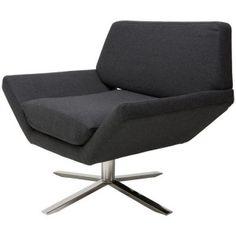 Tyrone Lounge Chair, Dark Grey