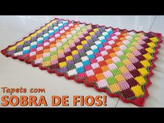 Crochet Carpet Using The Entrelac Stitch Crochet Feather, Crochet Butterfly Pattern, Crochet Cord, Crochet Needles, Crochet Stitches, Crochet Patterns, Crochet Motif, Double Crochet, Lidia Crochet Tricot