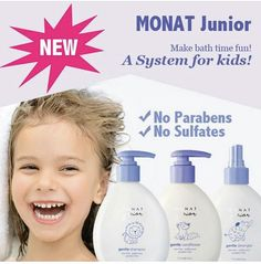 Make bath time fun again with MONAT Junior Gentle Shampoo. #MONATJunior Gentle Shampoo is tear-free, sulfate and paraben-free. Dermatologist and ophthalmologist tested. $59.00 Retail or become a VIP customer and pay only $50.00 and get #freeshipping #chemicalfree #naturalproducts Order now at: mandycooper.mymonat.com