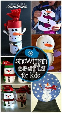 List of Easy Snowman Crafts For Kids this Winter/Christmas time! | CraftyMorning.com