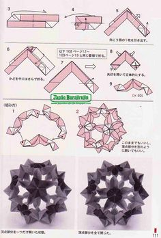 Adobrasia: Diagrama Do Kusudama Flor De Sombrinha