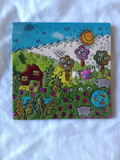 FIMO 50 World project tile from Isabelle Jolly, France