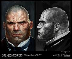 Dishonored-Thugs02, Cedric  Peyravernay on ArtStation at https://www.artstation.com/artwork/dishonored-thugs02