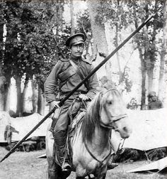 A Russian cossack, WWI.