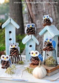 Pine+Cone+Owls