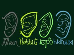 The ears of LOTR Man Hobbit Elf and Dwarf