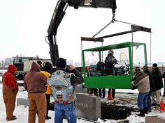 Ohio Man Buried Riding His Harley-Davidson Motorcycle The family of Billy Standley, of Mechanicsburg, Ohio, carried out his wish to be buried on his 1967 Harley Davidson motorcycle Friday, Jan. 31, 2014, burying him in a large Plexiglas casket at Fairview Cemetery in Crawford County, Ohio.