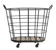 Køb Nordal DOWNTOWN trådkurv med hjul - cm - sort her. Wire Basket Storage, Wire Storage, Metal Baskets, Laundry Cart, Laundry Hamper, House Doctor, Industrial Living, Industrial Style, Industrial Interiors