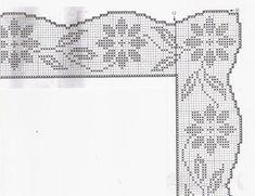 "Photo from album ""Вяжем все on Yandex. Filet Crochet, Crochet Chart, Diy Crochet, Crochet Doilies, Embroidery On Kurtis, Kurti Embroidery Design, Embroidery Patterns, Crochet Edging Patterns, Crochet Borders"