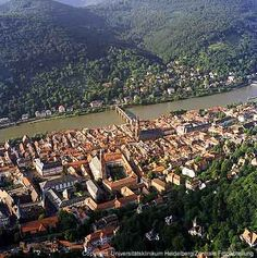 Veiw from Heidelberg Castle, was in this castle looking down on the town.