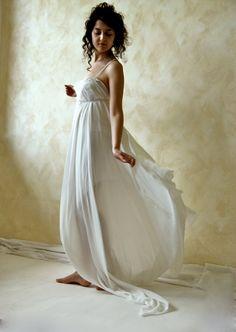 Ethereal fairy wedding gown  handmade boho silk by LoreTree, €400.00