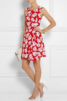 Nina Ricci | Floral-print silk mini dress | NET-A-PORTER.COM
