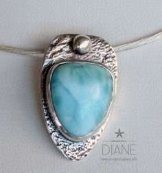 https://flic.kr/p/zdzRVR | larimar necklace close up | www.designsbydiane.info/#!product/prd1/4321998715/larimar...
