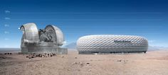 The European Extremely Large Telescope vs. Allianz Arena (Football stadium in Munich, Bavaria, Germany: with a 69,901 seating capacity
