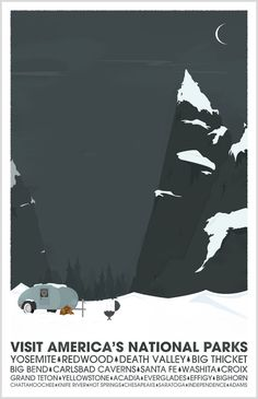 America's National Parks  Them Big Mountains by joshdsign on Etsy, $20.00
