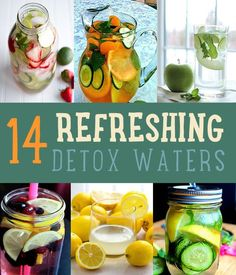 DIY Detox with These Easy To Make Refreshing Detox Waters Feel like you need a good detox? In case you don't feel like you have the time to make a detox smoothie, why not make detox water instead? Get a natural detox with this list of detox water recipes. Healthy Detox, Healthy Drinks, Healthy Eating, Easy Detox, Stay Healthy, Detox Foods, Healthy Water, Bebidas Detox, Infused Water Recipes