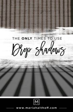 Drop shadows are a common design element used when creating graphics. However, drop shadows are used incorrectly all the time, making your designs look old and dated. Want to learn how to incorporate drop shadows into your designs like a professional graphic designer? Take a look!