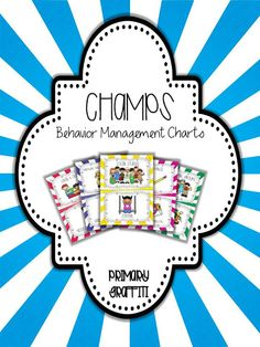 50 pages of CHAMPs aligned posters.  Two sizes!  Includes Voice Levels, CHAMPS letters, Subjects, Help Needed, and Movement Objectives. Champs Behavior Management, Behavior Management System, Classroom Behavior Management, Classroom Procedures, Organization And Management, Student Behavior, Classroom Organization, Class Management, First Grade Classroom