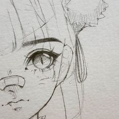 Introduction to Pencil Drawing Supplies & Techniques Cute girl with pony tail and nose bandage anime chibi eyes bangs Art Drawings Sketches Simple, Cute Drawings, Drawing Ideas, Pencil Drawings, Hipster Drawings, Drawing Poses, Anime Girl Drawings, Chibi Eyes, Manga Drawing