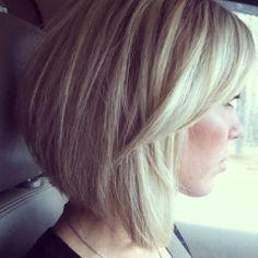 Blonde Medium hair cut---  I like the cut
