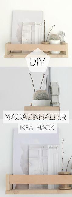 [DIY] ↠ Magazinhalter mit Lederband, IKEA BEKVÄM HACK ♡