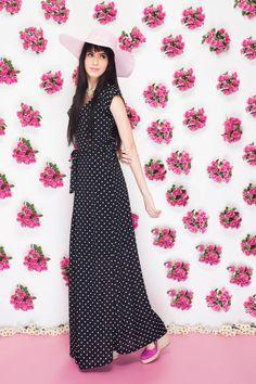 'O Jardim de Audrey'   2013 ♥  #fashion #Audrey #quiquiriqui #flowers #dots #romance