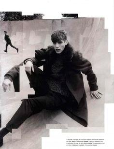 El editorial Men at Work de la revista Numéro Homme Fotos de Jacob Sutton y estilismo de moda de Samuel François