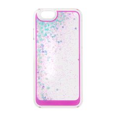 "<P>Drift away with sparkle. This shimmering iPhone 6 case features floating iridescent hearts and glitter.</P><UL><LI>2 3/4""L x 5 1/2""H<LI>Fits iPhone 6<LI>Plastic</LI></UL>"